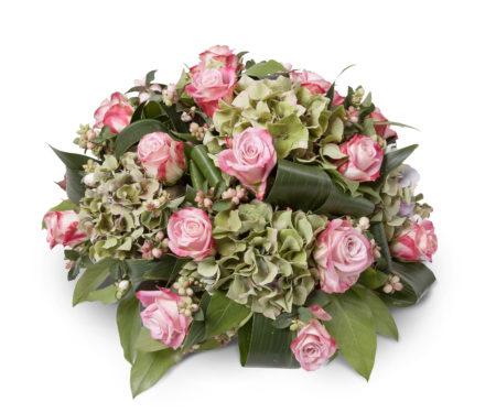 Rouwstuk biedermeier roze