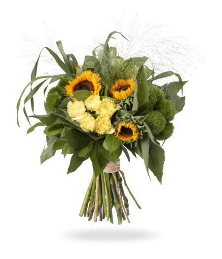 Zomers boeket met zonnebloemen